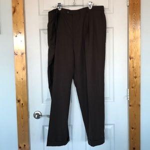 Men's Haggar comfort band dress slacks 44 x 32